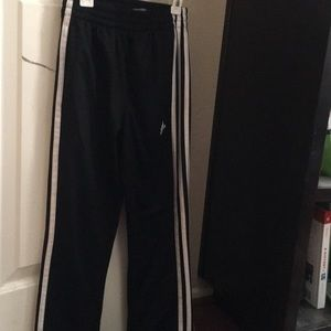 Worn Once! Adidas Black and White sweatpants 🖤🤍